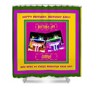 Birthday Girl's Birthday Wishes Shower Curtain