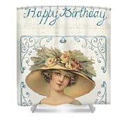 Birthday Lady Shower Curtain