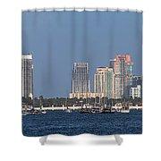 Biscayne Bay At Miami Yatch Club Shower Curtain