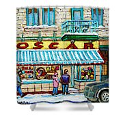 Biscuiterie Oscar Rue Ontario Shower Curtain
