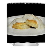 Biscuits And Gravy Shower Curtain