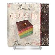 Biscuits Gouche Patisserie Shower Curtain