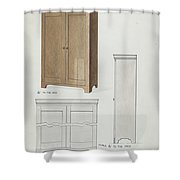 Bishop Hill: Cupboard Shower Curtain