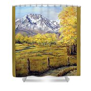 Bishop In The Fall Shower Curtain