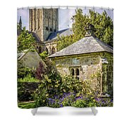 Bishops Palace Gardens - Wells England Shower Curtain