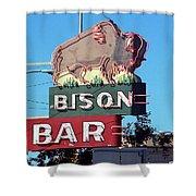 Miles City Montana - Bison Bar Shower Curtain