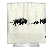 Bison Family Shower Curtain