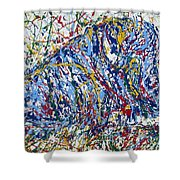 Bison Resting Shower Curtain