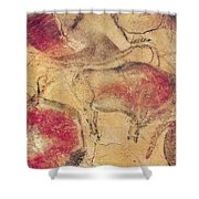 Bisons From The Caves At Altamira Shower Curtain by Prehistoric