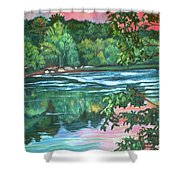 Bisset Park Rapids Shower Curtain