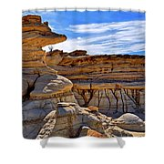 Bisti Badlands Formations - New Mexico - Landscape Shower Curtain