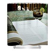 Bistro Table Study, Balcony Garden, Hunter Hill, Hagerstown, Mar Shower Curtain
