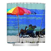 Bit Of Shade On The Beach Shower Curtain