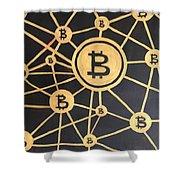 Bitcoin Shower Curtain
