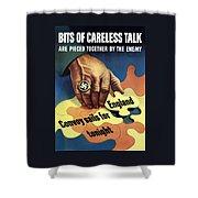 Bits Of Careless Talk Shower Curtain