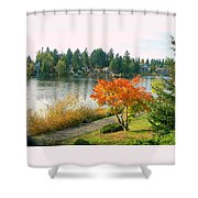 Bitter Lake Seattle Shower Curtain