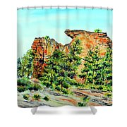 Bitterroot Cliffs Shower Curtain