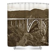 Bixby Creek Aka Rainbow Bridge Bridge Big Sur Photo  1937 Shower Curtain