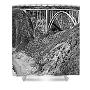 Bixby Creek Bridge Big Sur Photo  Circa 1939 Shower Curtain