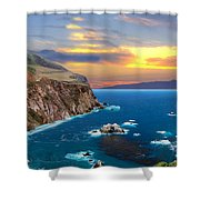 Bixby Creek Bridge Shower Curtain