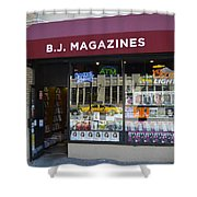 B.j. Magazines New York Shower Curtain