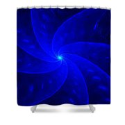 Bkue Pinwheel Shower Curtain