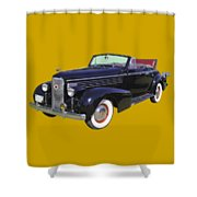 Black 1938 Cadillac Lasalle Shower Curtain