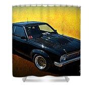 Black A9x Shower Curtain