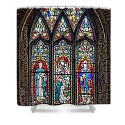 Black Abbey Window - Kilkenny - Ireland Shower Curtain