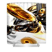 Black Amber Abstract Shower Curtain