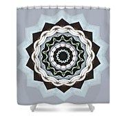 Black And Blue Mandala Shower Curtain