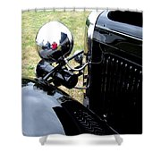 Black And Chrome Shower Curtain
