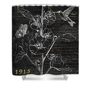Black And Gold Hummingbirds 1 Shower Curtain