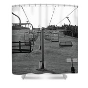 Black And Lift Shower Curtain