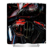 Black And Red Harley 5966 H_2 Shower Curtain
