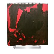 Black And Red Shower Curtain