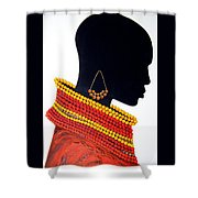 Black And Red - Original Artwork Shower Curtain