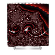 Black And Red Tornados Shower Curtain