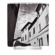 Black And View Italy Shower Curtain