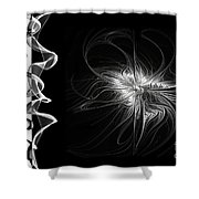 Black And White - 2 - Negative Shower Curtain