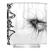Black And White - 2 Shower Curtain
