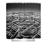 Black And White 3 Shower Curtain