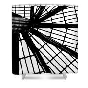 Black And White 4 Shower Curtain
