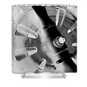 Black And White Abstract 1 Shower Curtain