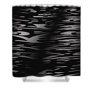 Black And White Abstract Shower Curtain