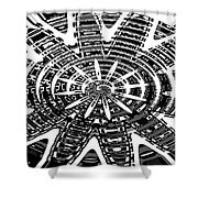Black And White Abstracts Shower Curtain