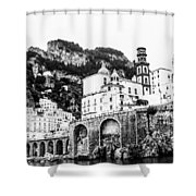 Black And White Amalfi Shower Curtain