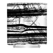 Black And White Art - Layers - Sharon Cummings Shower Curtain