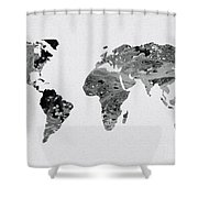 Black and white art world map round beach towel for sale by black and white art world map shower curtain gumiabroncs Gallery