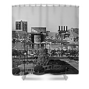 Black And White Baltimore Shower Curtain